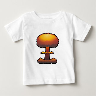 Orange Atomic/Nuclear Explosion Mushroom Cloud Infant T-shirt