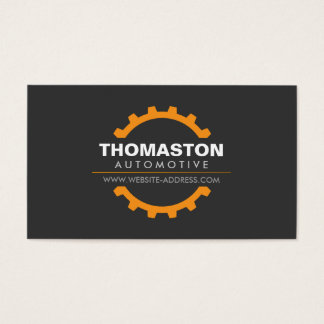 Orange Automotive Gear Auto Repair, Mechanic Business Card
