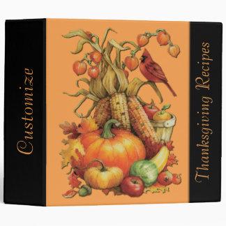 Orange Autumn Harvest Thanksgiving Recipe Binder