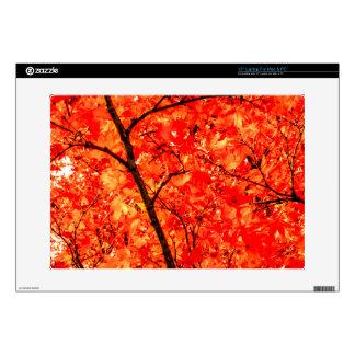"Orange Autumn Leaves 15"" Laptop Decal"