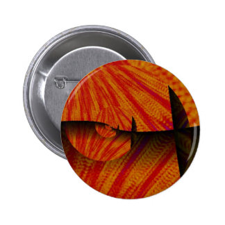 Orange Autumn Leaves Abstract Digital Art Buttons