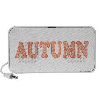 Orange Autumn Leaves Mini Speaker