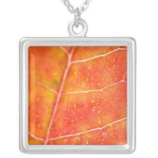 Orange Autumn Maple Leaf Necklace