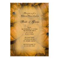 Orange Autumn Pumpkins Rehearsal Dinner Invitation