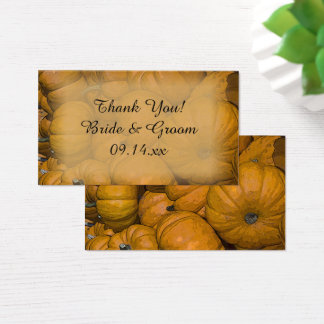 Orange Autumn Pumpkins Wedding Favor Tags