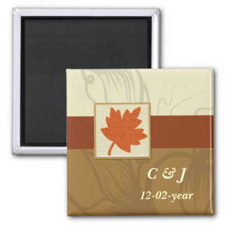 orange Autumn  Save the date magnet