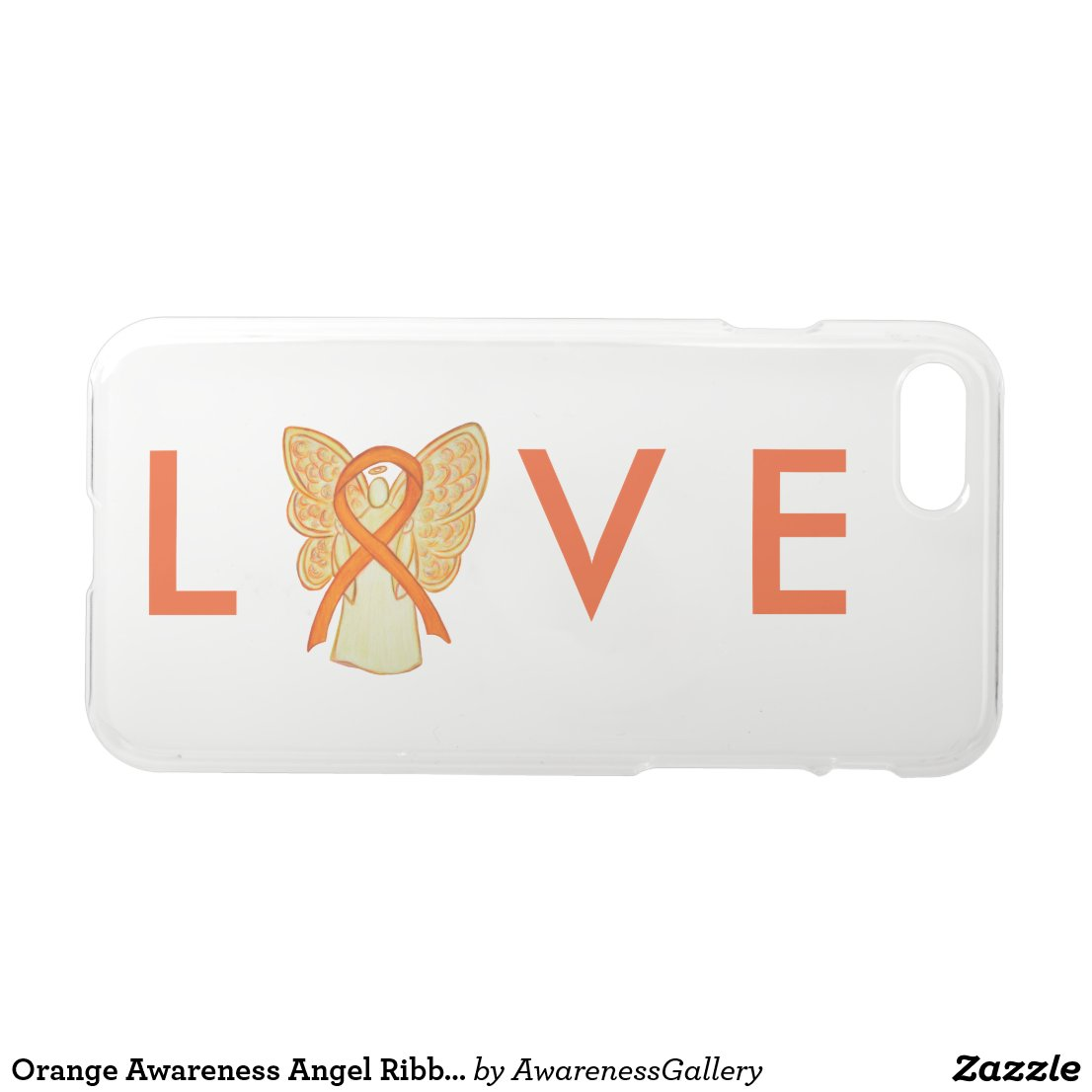 Orange Awareness Angel Ribbon Custom iPhone 7 Case