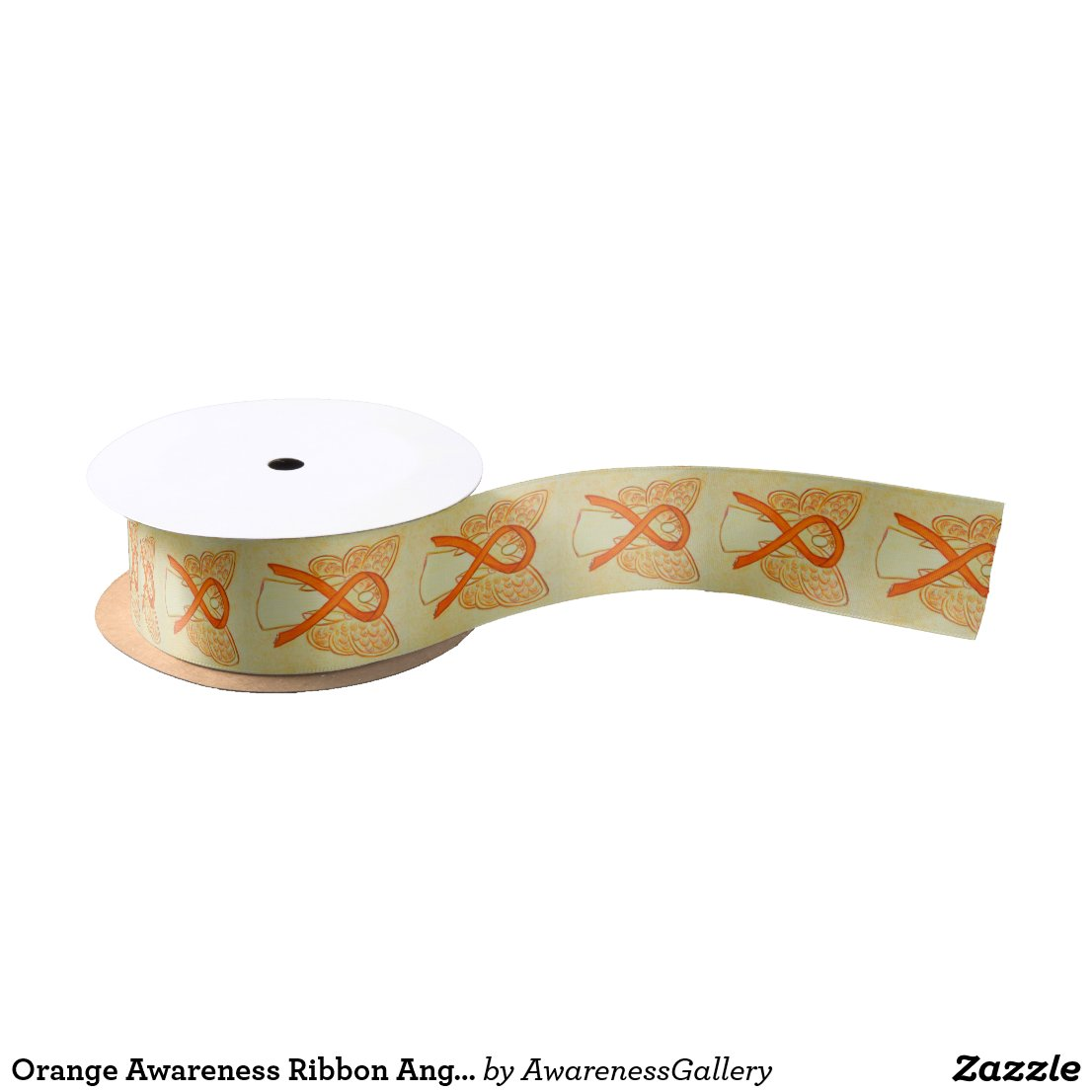 Orange Awareness Ribbon Angel Customized Ribbons