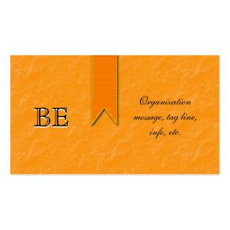 Orange Awareness Ribbon Business Cards Elegant