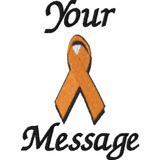 Orange awareness ribbon - Customize