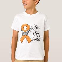 Orange Awareness Ribbon For My Hero T-Shirt