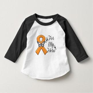 Orange Awareness Ribbon For My Hero Tee Shirts