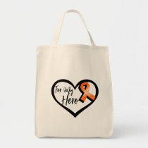 Orange Awareness Ribbon For My Hero Tote Bag