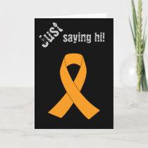 Orange Awareness Ribbon - Leukemia, MS Card