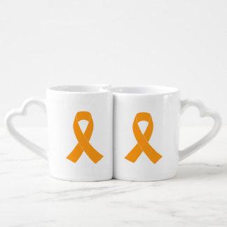 Orange Awareness Ribbon - Leukemia, MS Coffee Mug Set