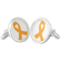 Orange Awareness Ribbon - Leukemia, MS Cufflinks