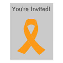 Orange Awareness Ribbon - Leukemia, MS Postcard