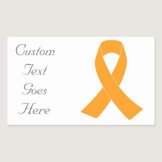 Orange Awareness Ribbon - Leukemia, MS Rectangular Sticker