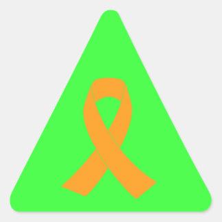 Orange Awareness Ribbon - Leukemia, MS Triangle Sticker