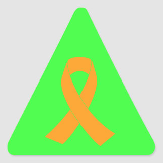 Orange Awareness Ribbon - Leukemia, MS Triangle Sticker
