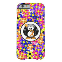 Orange Awareness Ribbon Penguin Barely There iPhone 6 Case