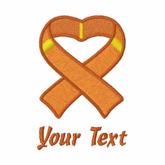 Orange Awareness Ribbon Shirt Polo