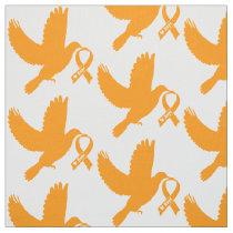 Orange Awareness Ribbon with Dove of Hope Fabric