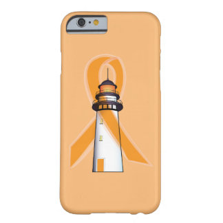 Orange Awareness Ribbon with Lighthouse of Hope Barely There iPhone 6 Case