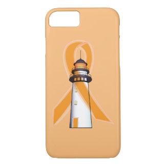 Orange Awareness Ribbon with Lighthouse of Hope iPhone 7 Case