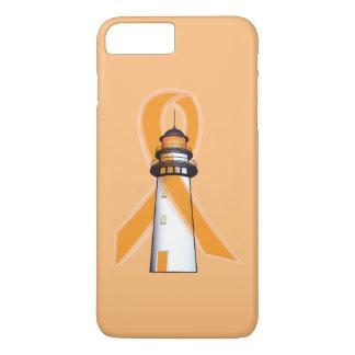 Orange Awareness Ribbon with Lighthouse of Hope iPhone 7 Plus Case