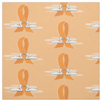 Orange Awareness Ribbon with Swans Fabric