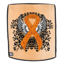 Orange Awareness Ribbon with Wings Backpack