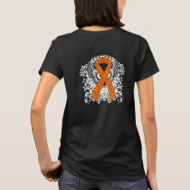 Orange Awareness Ribbon with Wings T-Shirt