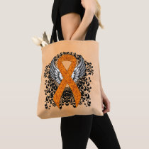 Orange Awareness Ribbon with Wings Tote Bag