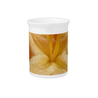 Orange Azaleas Drink Pitcher