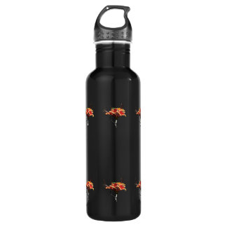Orange Azaleas Stainless Steel Water Bottle