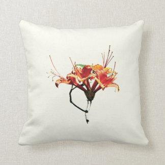 Orange Azaleas Throw Pillow