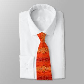 Orange Aztec Pattern Necktie