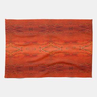 Orange Aztec Pattern Towel
