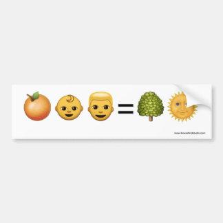 Orange Baby Man = Treason Bumper Sticker