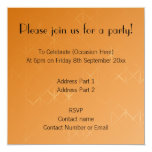 Orange Background. Abstract Misty Grid Design. 5.25x5.25 Square Paper Invitation Card