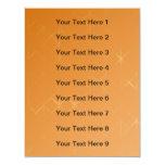 Orange Background. Abstract Misty Grid Design. 4.25x5.5 Paper Invitation Card
