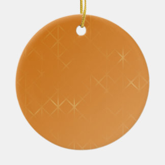 Orange Background. Abstract Misty Grid Design. Christmas Ornament
