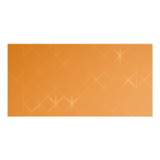 Orange Background. Abstract Misty Grid Design. Photo Card Template