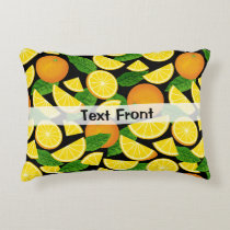 Orange Background Accent Pillow