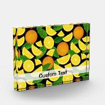 Orange Background Acrylic Award
