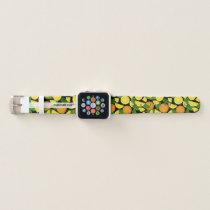 Orange Background Apple Watch Band