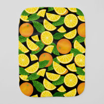 Orange Background Baby Burp Cloth