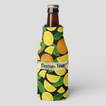 Orange Background Bottle Cooler