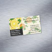 Orange Background Business Card Magnet